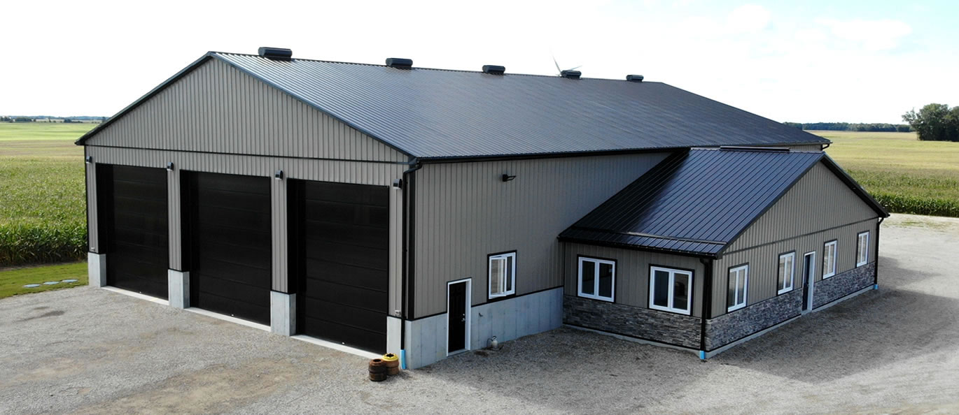 agricultural buidling with 2 overhead doors